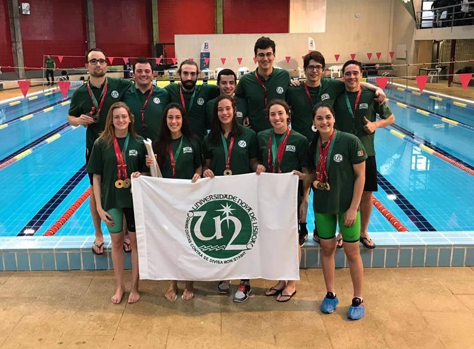 Equipa de Natação da NOVA no Campeonato Nacional Universitário de Natação Piscina Curta