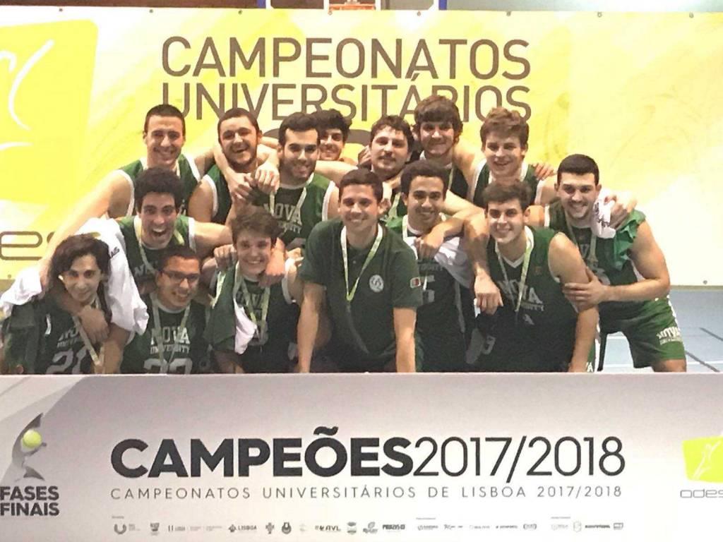 Equipa de basquetebol masculina da NOVA sagrou-se campeã Universitária de Lisboa