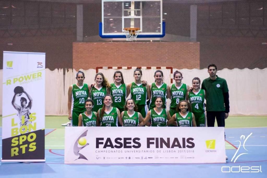 Equipa de basquetebol feminina da NOVA na final do Campeonato Universitário de Lisboa