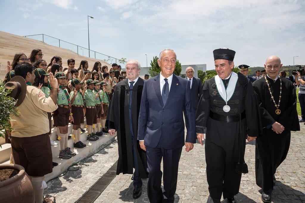 Francisco Pinto Balsemão, Marcelo Rebelo de Sousa, António Rendas e Eduardo de Arantes e Oliveira