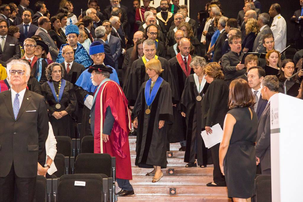 Entrance of the Academic Procession in the Auditorium