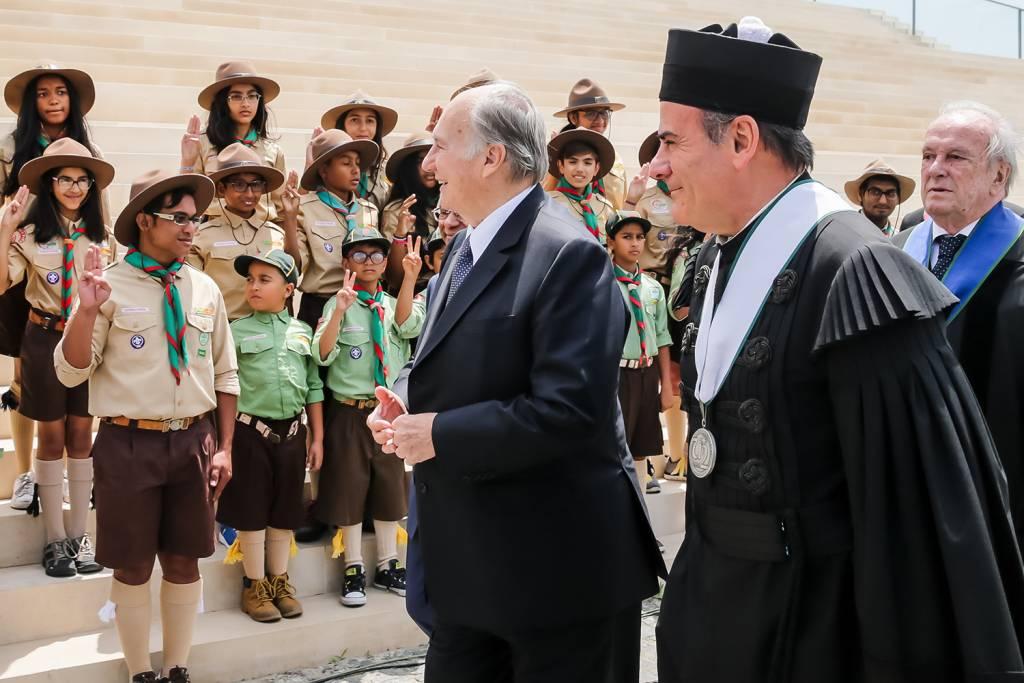 Príncipe Aga Khan, António Rendas e Francisco Pinto Balsemão