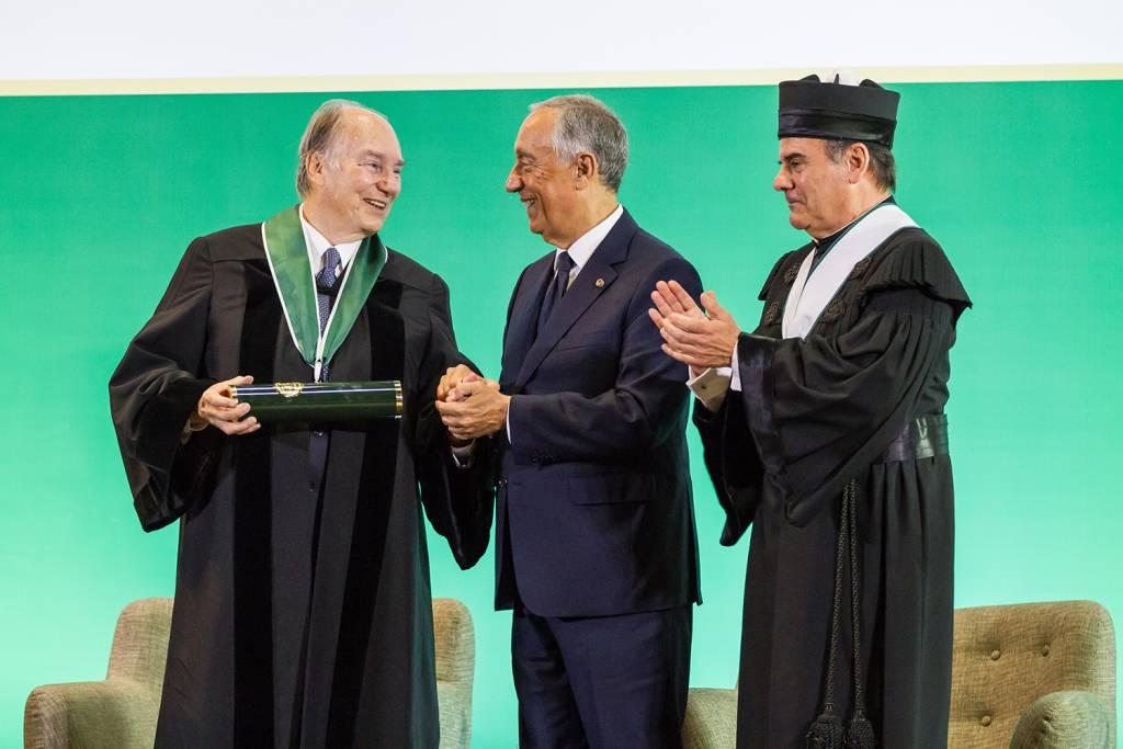 Príncipe Aga Khan, Marcelo Rebelo de Sousa e António Rendas