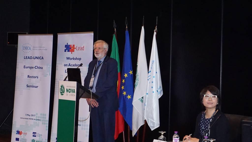 Professor Jan Cornelis, antigo Vice-Reitor de Política Internacional da Vrije Universiteit Brussel (VUB)