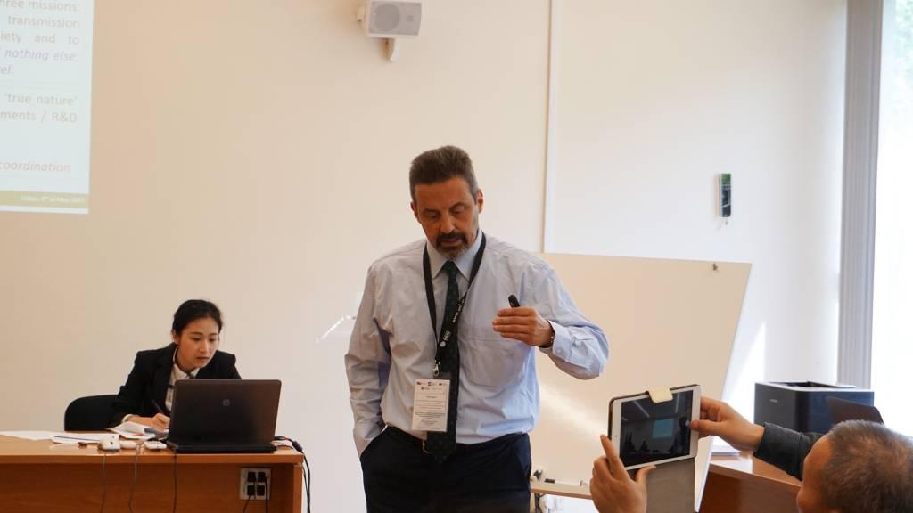 Professor João Sàágua, Vice-Reitor das Relações Internacionais e Gestão dos Projetos Europeus, Concursos e Provas Académicas