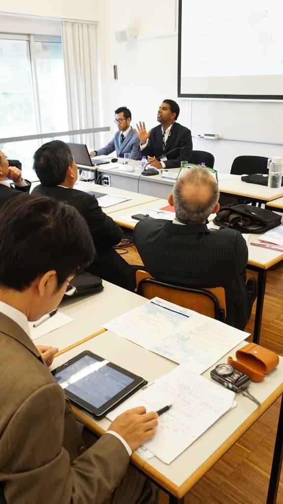 Sessão de trabalho com o Professor Daniel Traça, Diretor da Nova School of Business and Economics e com o Professor Xuemei Yu, Diretor do Gabinete de Intercâmbio Internacional e Cooperação da Tongji University