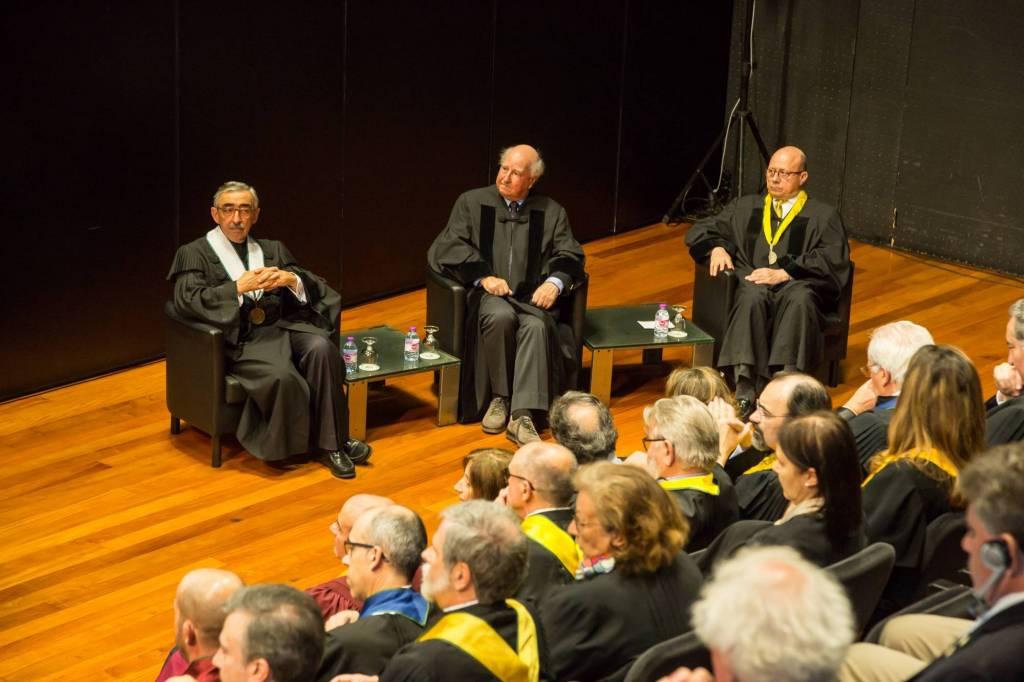 Prof. José Fragata, Prof. Robert Anderson e Prof. Jaime da Cunha Branco