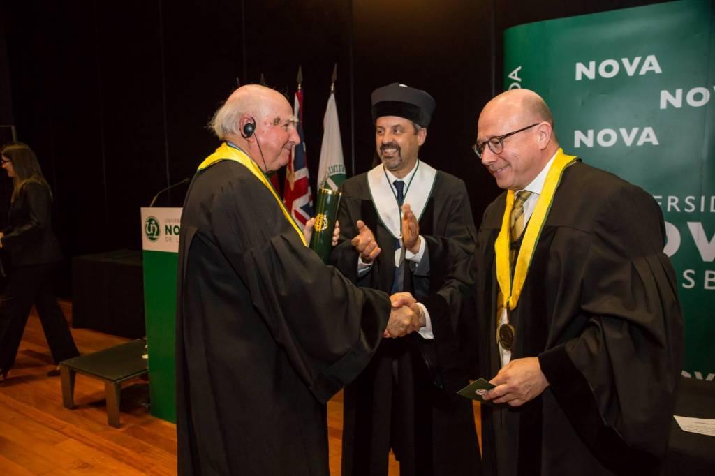 Prof. Robert Anderson, Prof. João Sàágua e Prof. Jaime da Cunha Branco