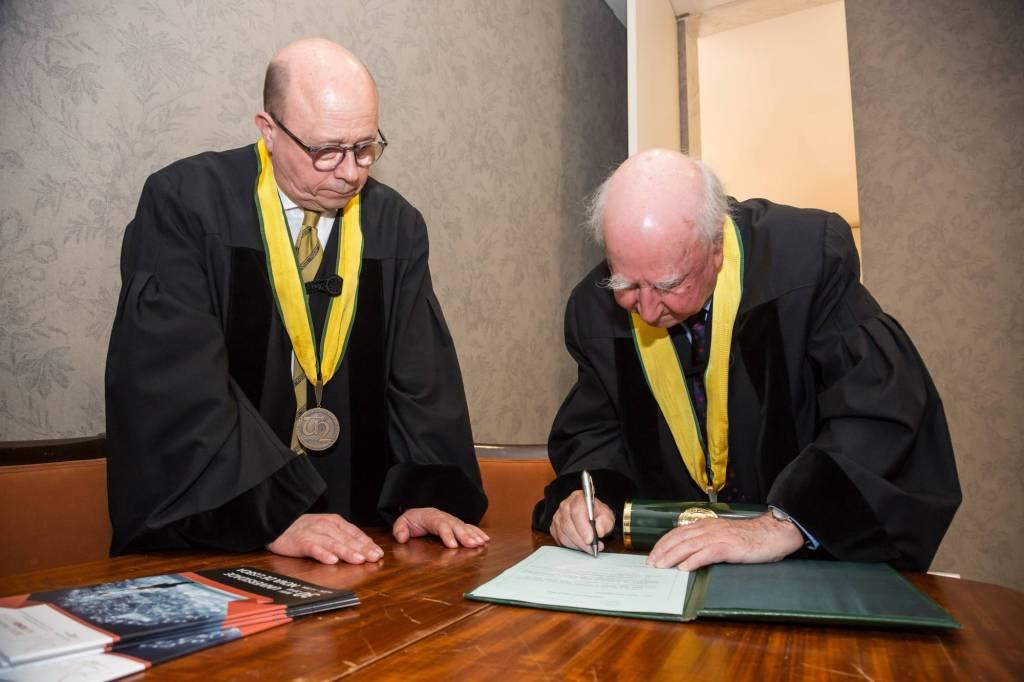 Prof. Jaime da Cunha Branco e Prof. Robert Anderson