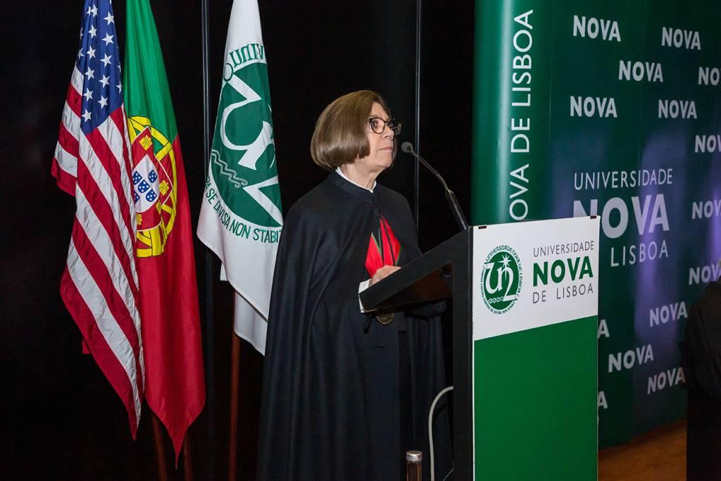 Maria Helena Brito, da Faculdade de Direito da NOVA, fez o elogio do laureado.