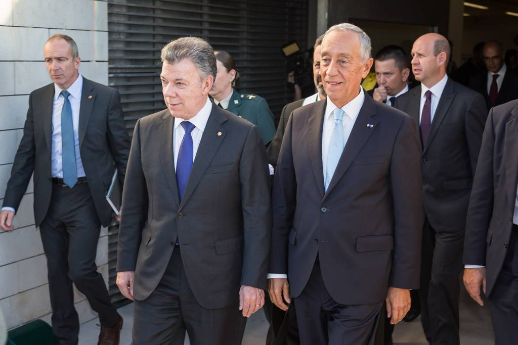 Juan Manuel Santos and Marcelo Rebelo de Sousa