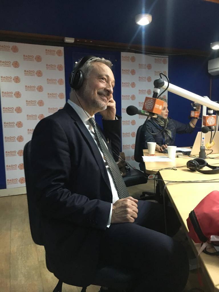 Vice-Rector of NOVA, Prof. João Amaro de Matos at the Radio Nacional de Colombia