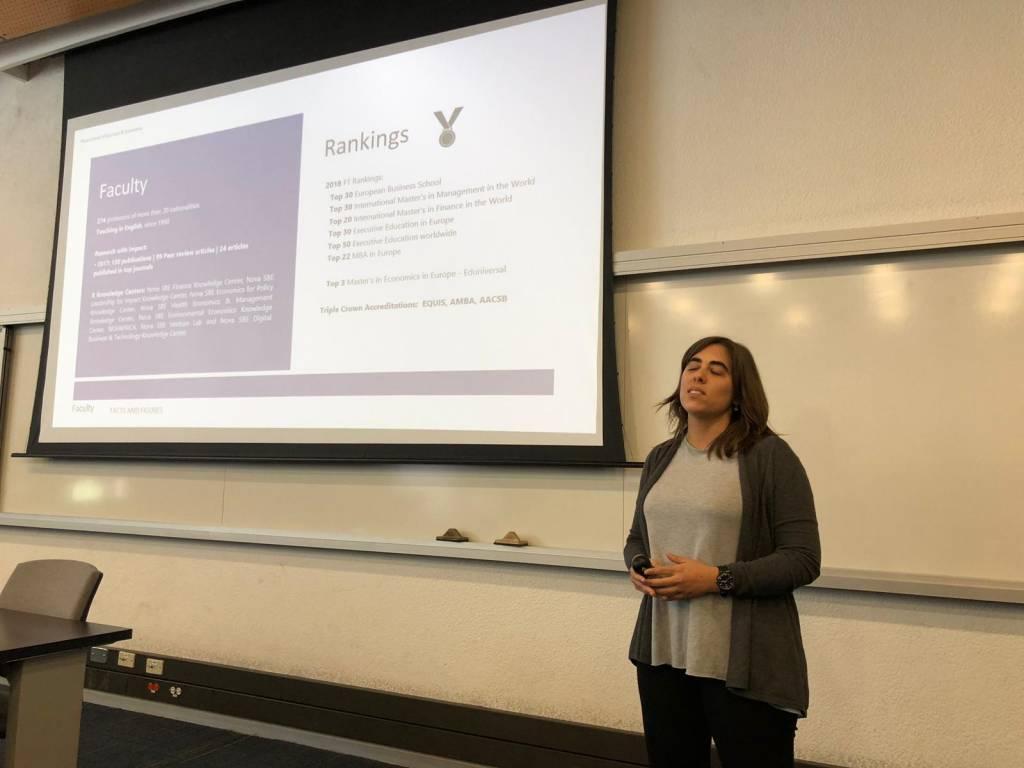 Carolina Sales presents the Double Degree in Finance NOVA/Univ. Los Andes