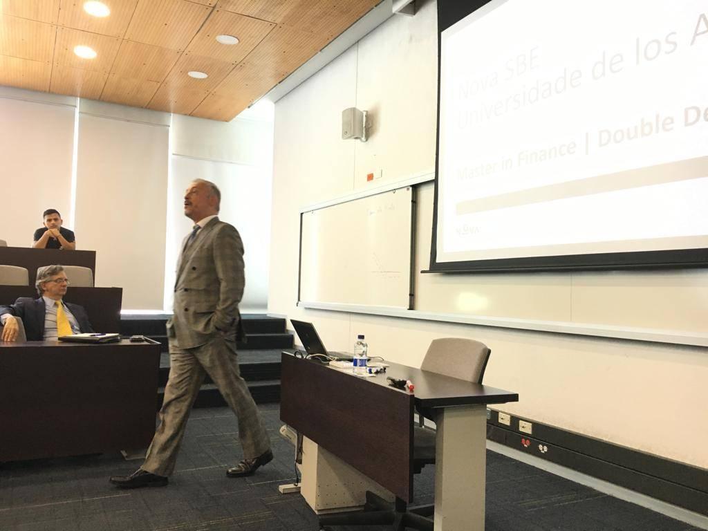 Prof. Amaro de Matos presents the Double Degree in Finance NOVA/Univ. Los Andes