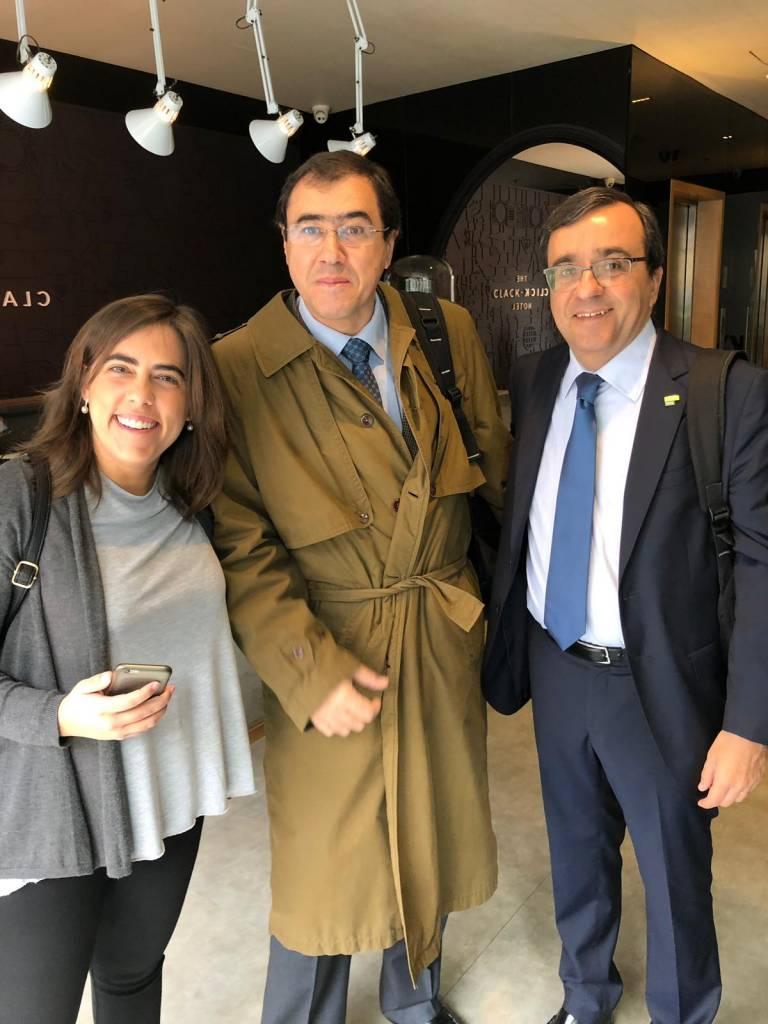 Carolina Sales (Nova SBE), Prof. Ricardo Jardim Gonçalves (Associate Dean – FCT NOVA) and Prof. Pedro Saraiva (Dean - NOVA IMS)
