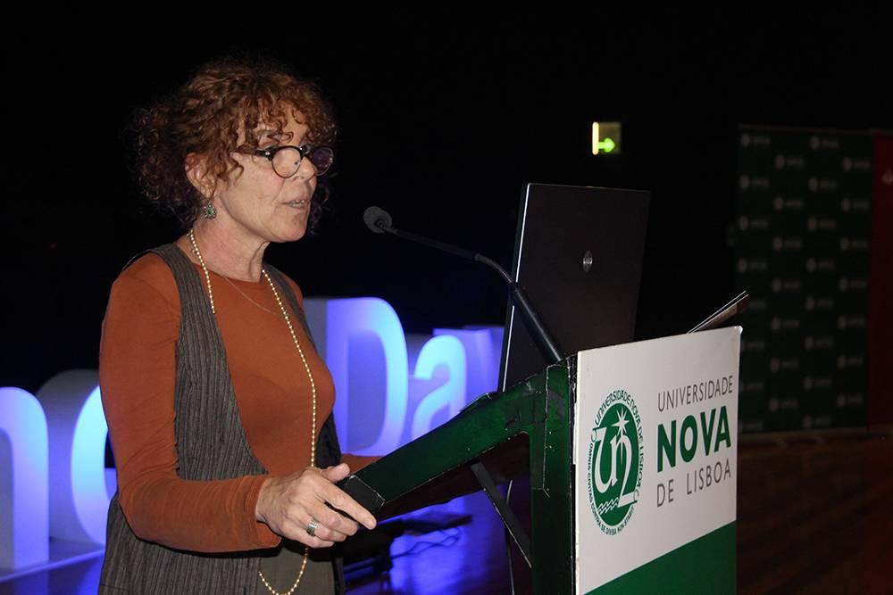 Professora Susana Trovão, em representação da Faculdade de Ciências Sociais e Humanas