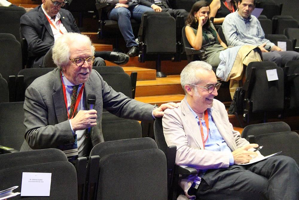 Professor Armando Marques Guedes e Professor Henrique Silvieira