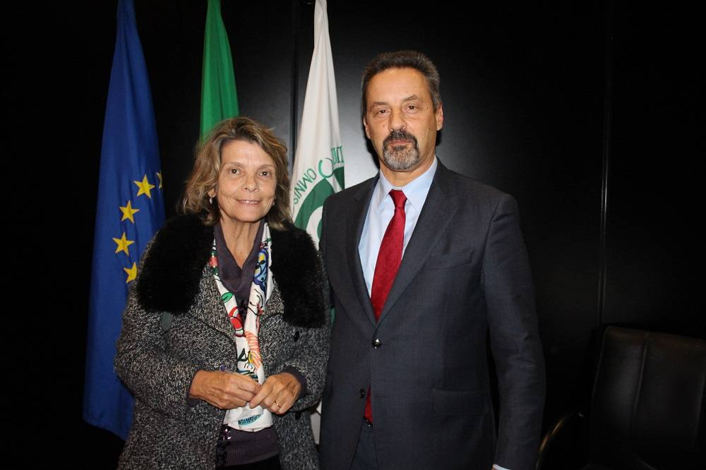 Prof.ª Carmo Seabra e Prof. João Sàágua