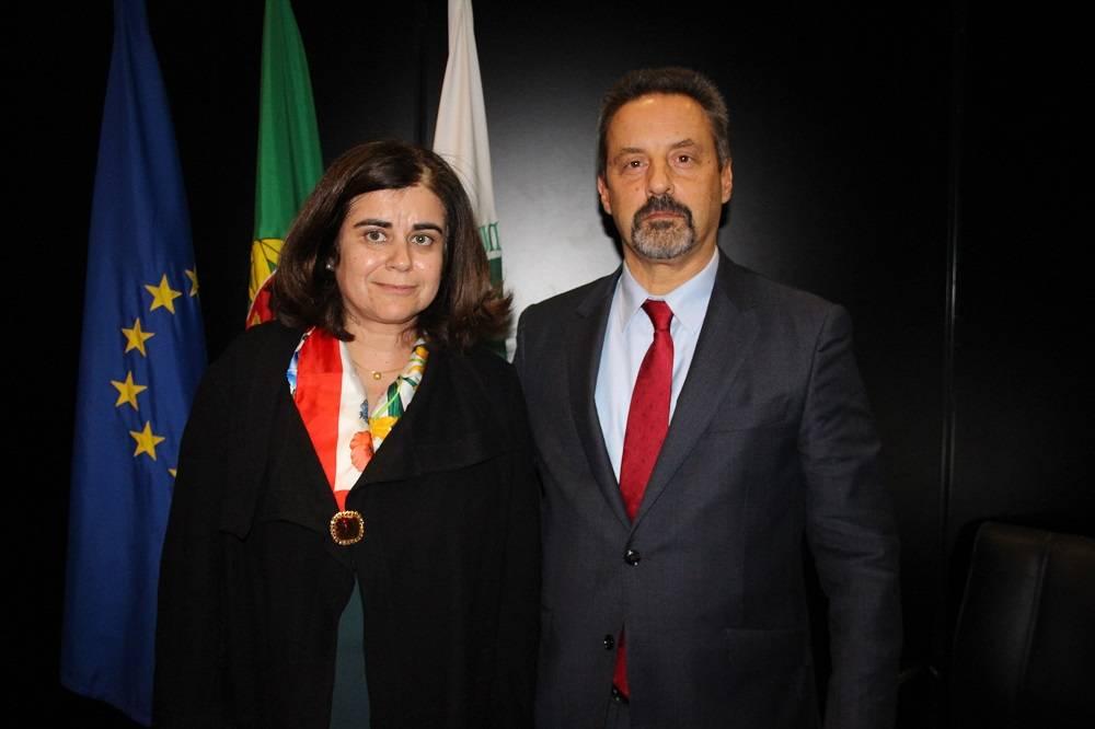 Prof.ª Helena Pereira de Melo e Prof. João Sàágua