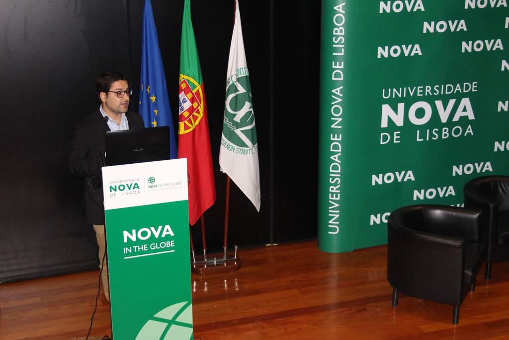 Apresentações das oportunidade de colaboração pelos investigadores da NOVA e Lancaster