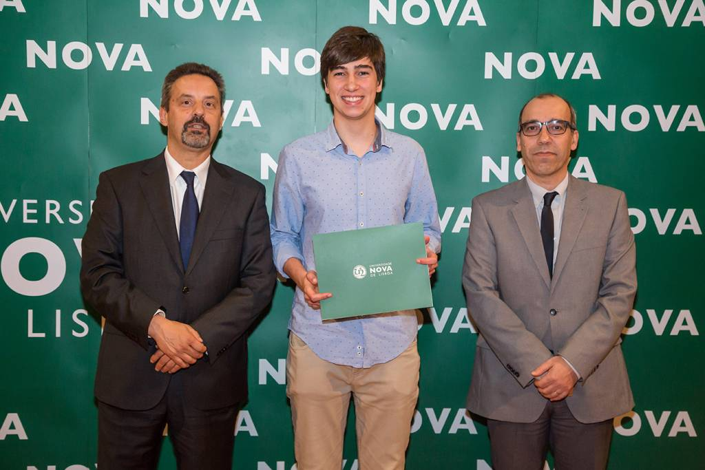 Rector of NOVA; Ivan Sá Vieira (best student of Philosophy) and Dean NOVA FCSH