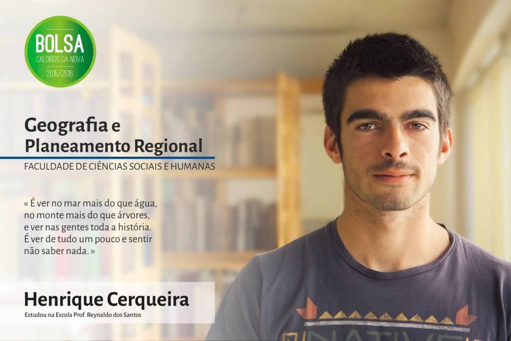 Henrique Morgado Cerqueira, Faculdade de Ciências Sociais e Humanas da NOVA
