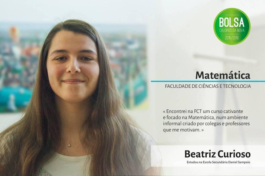 Beatriz Curioso, Faculdade de Ciências e Tecnologia da NOVA