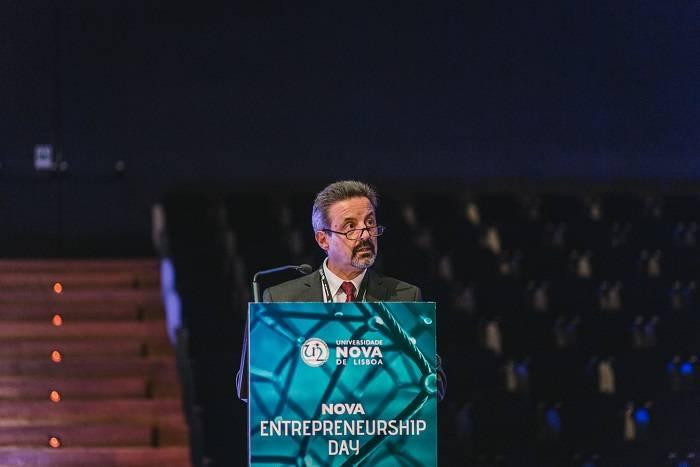 O Reitora NOVA, João Sàágua, no NOVA Entrepreneurship Day 2019