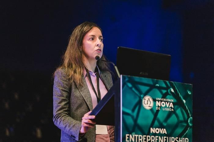 A Pró-Reitora da NOVA, Isabel Rocha, no NOVA Entrepreneurship Day 2019