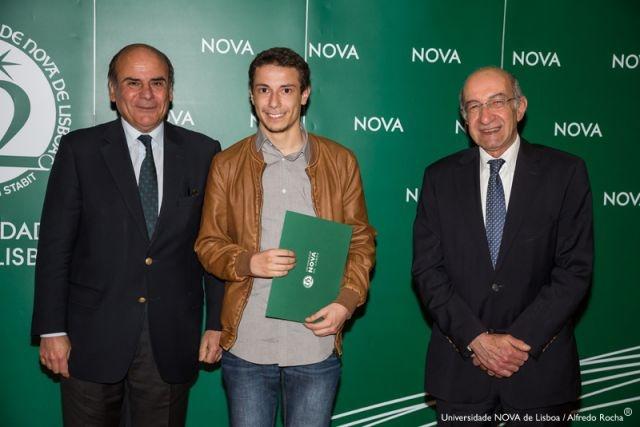 Reitor da NOVA, Henrique Carrêlo - estudante de Engenharia de Materiais, e Diretor Faculdade de Ciências e Tecnologia da NOVA