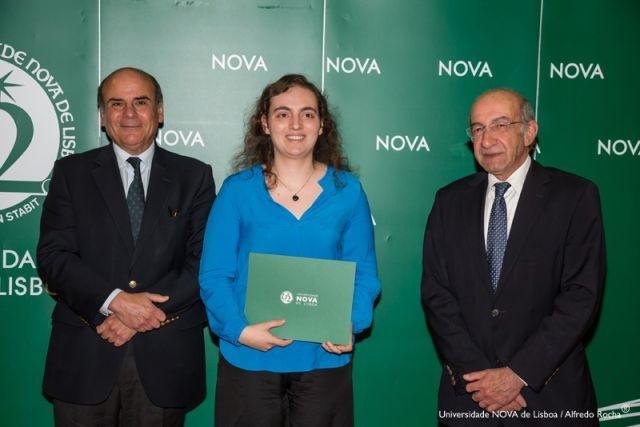 Reitor da NOVA, Ana Sofia Saraiva - estudante de Conservação e Restauro, e Diretor Faculdade de Ciências e Tecnologia da NOVA