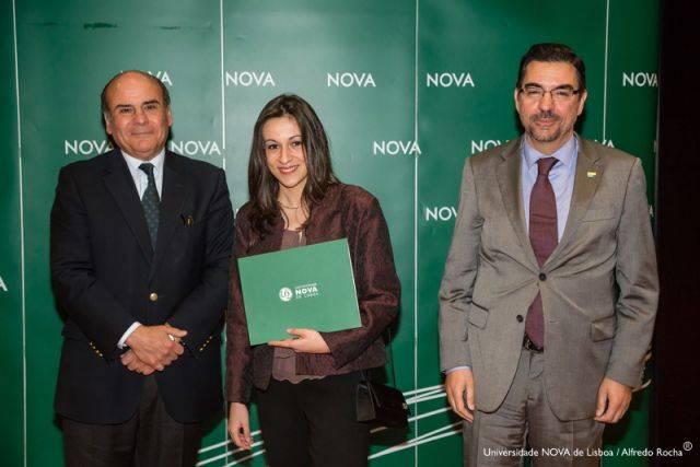 Reitor da NOVA, Ana Sofia Gonçalves-estudante de Gestão de Informação, e Diretor NOVA Information Management School