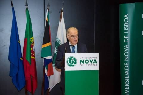 Jorge Sampaio discursa na Universidade NOVA de Lisboa