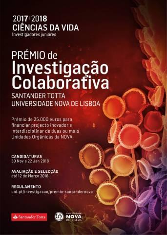 Prémio de Investigação Colaborativa Santander Totta/ Universidade NOVA de Lisboa 2017/18