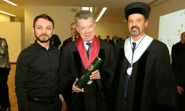 Doutoramento Honoris Causa Presidente da Colômbia