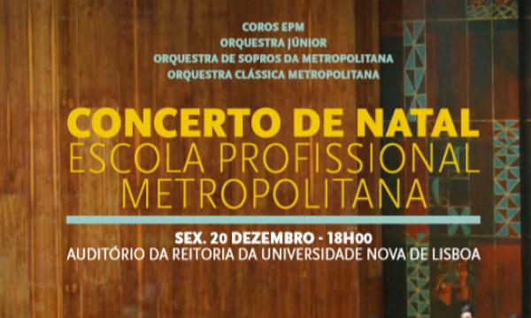 Cartaz do Concerto de Natal da Escola Profissional Metropolitana