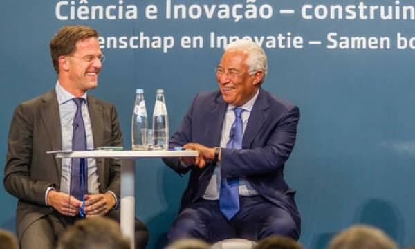 Mark Rutte, Primeiro-Ministro Holandês, e António Costa, Primeiro-Ministro de Portugal