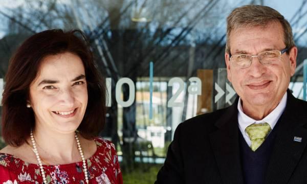 Professora Elvira Fortunato e Professor Rodrigo Martins