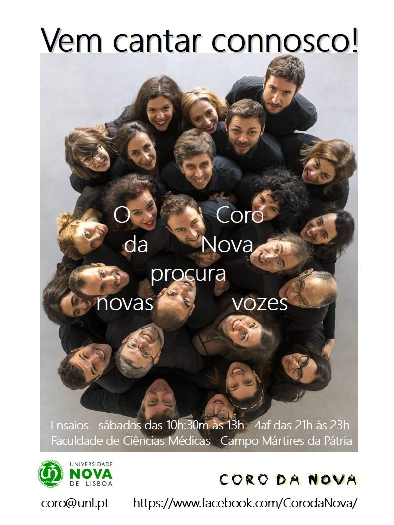 Cartaz Audições Coro da NOVA