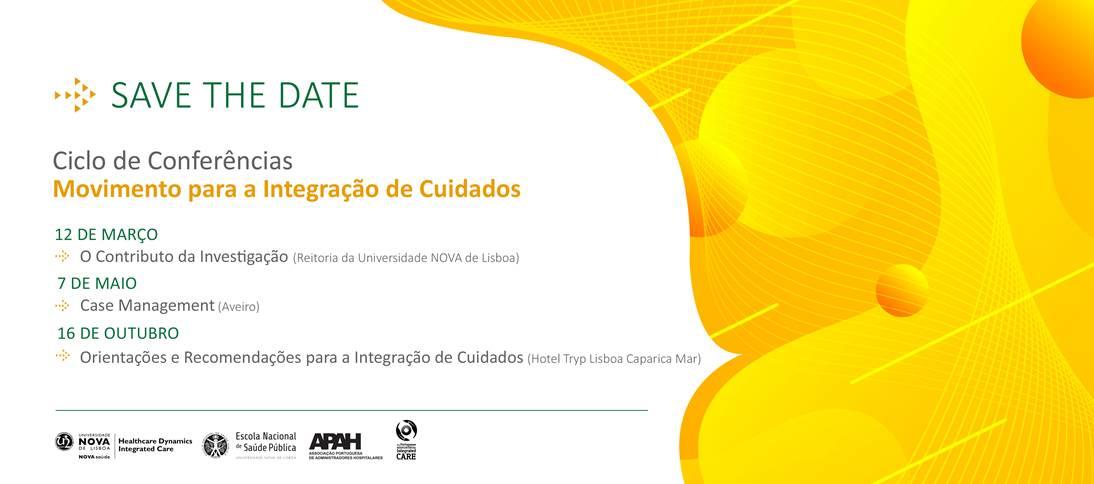 """Cartaz Ciclo Conferências """"Movimento para a Integração de Cuidados"""""""